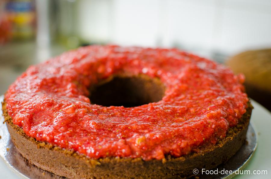 Brown Sugar Cake with White Chocolate Ganache and Strawberries-26