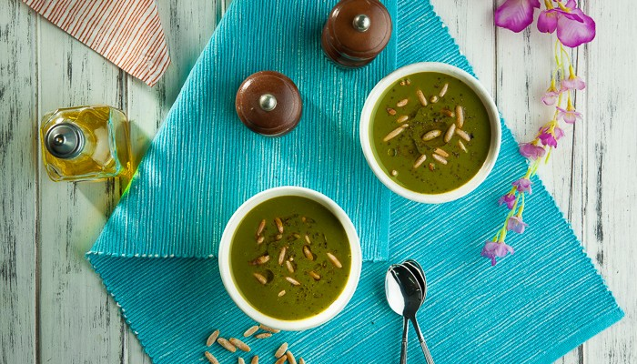 Chilled Spinach & Cucumber Soup